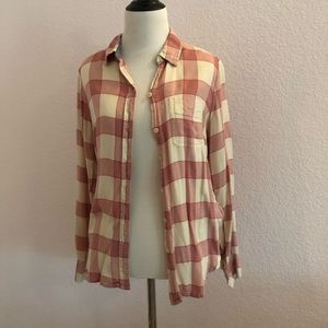 Pink and White Lucky Brand Flannel 💖